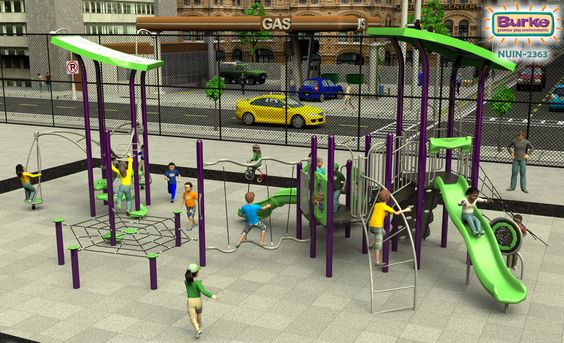 Let Burke help inspire you to create unique and beautiful #playgrounds