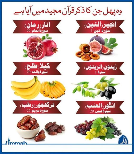 Name Of Those Fruits Which Names Come In Quran Healthy Food Vegetables