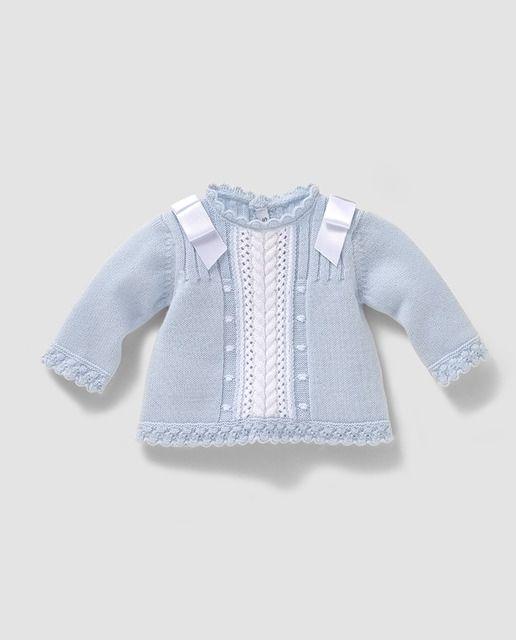 Jersey de bebé niño en azul desagujado                                                                                                                                                      Más