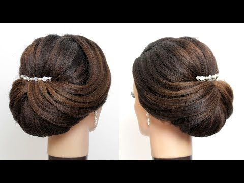 New Bridal Hairstyle For Girls Latest Wedding Updo Hair Tutorial Youtube New Bridal Hairstyle Bridal Hair Buns Hair Tutorial