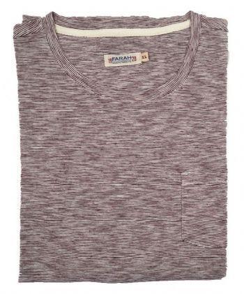 Farah 1920 Men's Radnor Pocket  Stripe T Shirt Cabernet Red
