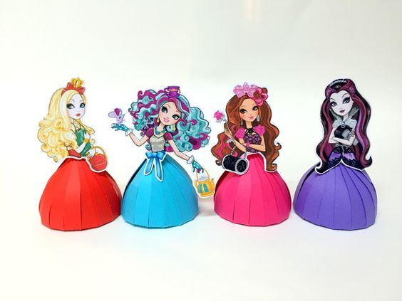 Bonecas porta-bombons Ever After High | ATELIÊ FESTA E CIA | Elo7