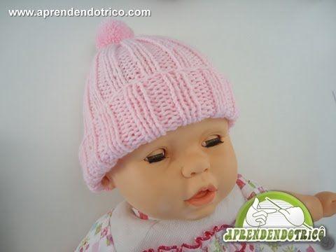 Gorro de Trico Bebê Dorminhoco - 2º Parte - Aprendendo Tricô Manual