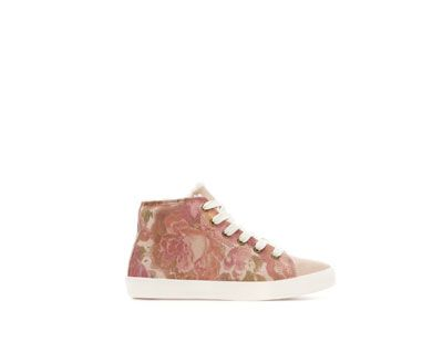 ZARA - KIDS - FLORAL LEATHER LINED BASKETBALL BOOT