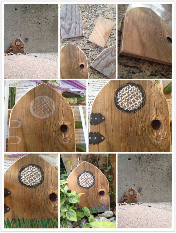 Knots left over and fairy doors on pinterest for Homemade fairy doors