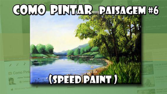 Como Pintar : Paisagem #6  ( Speed Paint )