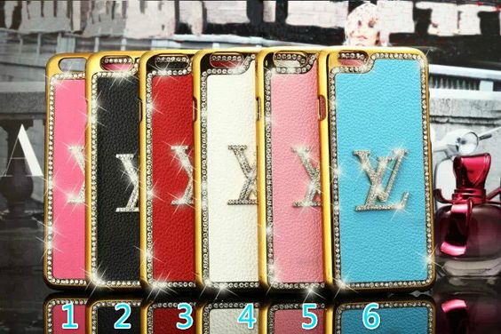 Lv hard back case covers with Diamond Logo for iphone4S/iphone5S / iphone6 4.7/ iphone6 5.5