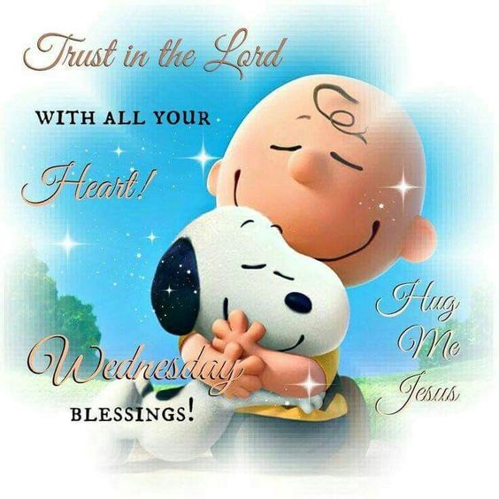 Good Morning Snoopy Wednesday : Wednesday blessings trust in the lord snoopy quote good