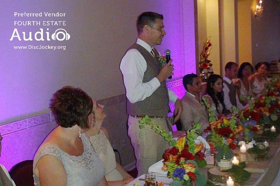 Best Man Zach Covey shares a toast to the newlyweds. http://www.discjockey.org/real-chicago-wedding-sept-25-2016/