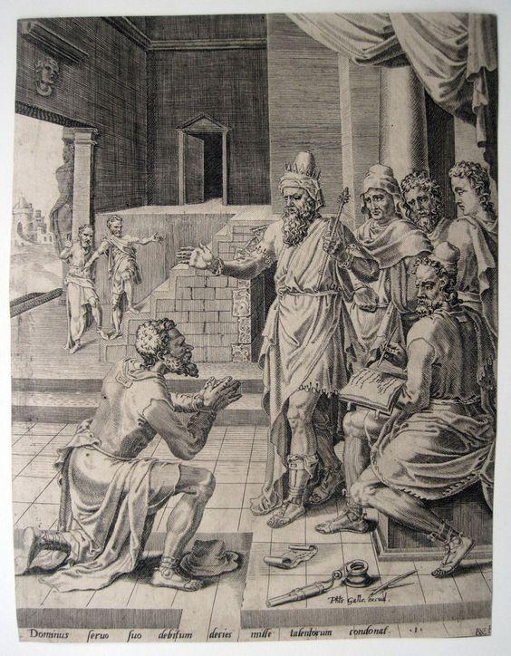 Coornhert: Gleichnis vom unbarmherzigen Knecht 1554 Parable unmerciful servant