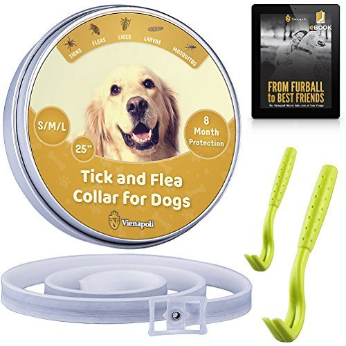 Vienapoli Adjustable Flea And Tick Collar By For Small Medium And Large Dogs Tick Remover Flea And Tick Fleas Ticks