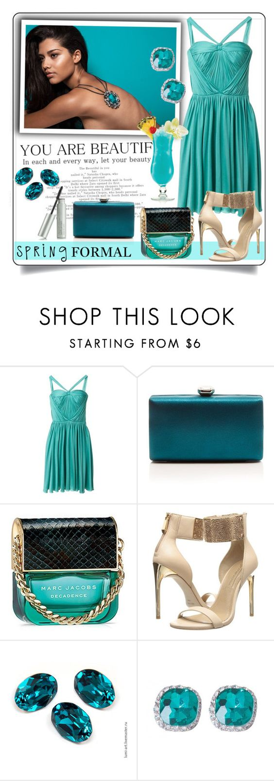 """Spring cocktail"" by anemone-ci ❤ liked on Polyvore featuring Christian Dior, La Regale, Marc Jacobs, BCBGMAXAZRIA and springformal"
