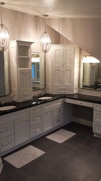 Vanities corner vanity and master bath on pinterest for L shaped master bathroom layout