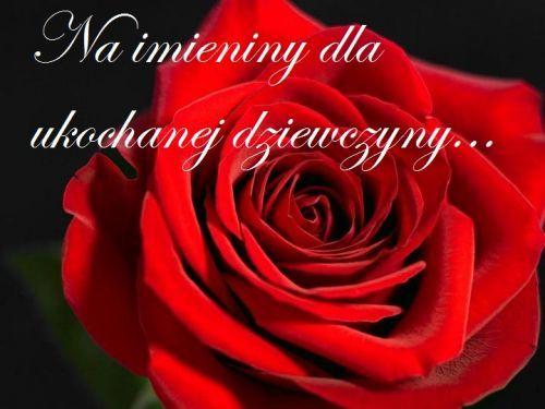 Kartka Pod Tytulem Zyczenia Na Imieniny Dla Ukochanej Dziewczyny Plants Rose Flowers