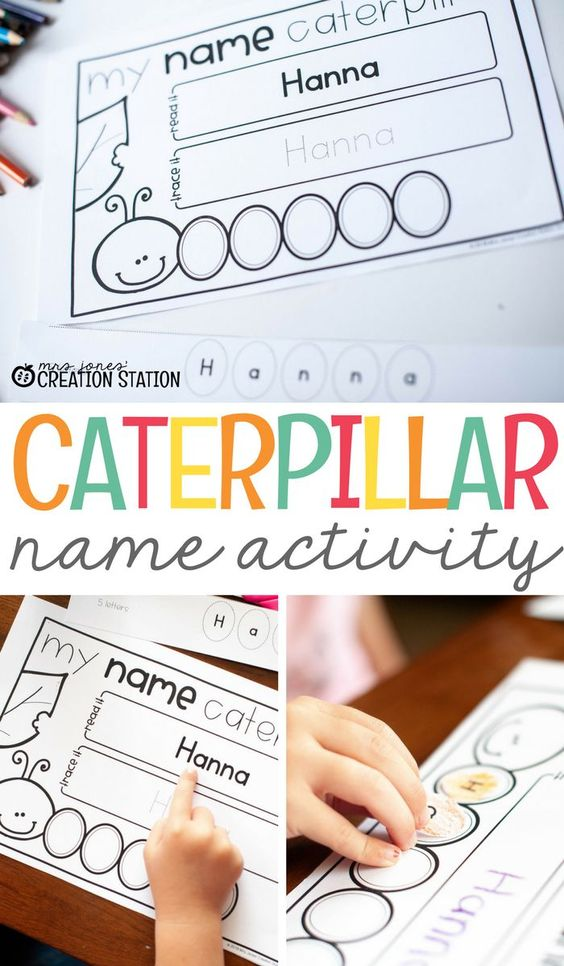 This caterpillar name activity is a great way to practice letter recognition, cutting, tracing, more! Come grab the free editable printable and get started with a fun name learning activity for your preschooler. #mjcs #caterpillarnameactivity #nameactivities #nameactivitiespreschool #freeprintable #letterrecognition #preschool #prek #childrenlearntheirnames #nameactivitiesforpreschool #mrsjonescreationstation