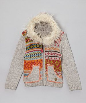 A neutral color makes the perfect backdrop for a playful of medley of patterns. Made from a super-soft blend, this cozy hoodie will ensure a little flower child is as comfy as can be.