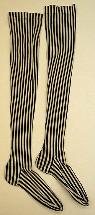 French, silk stockings, 1890's