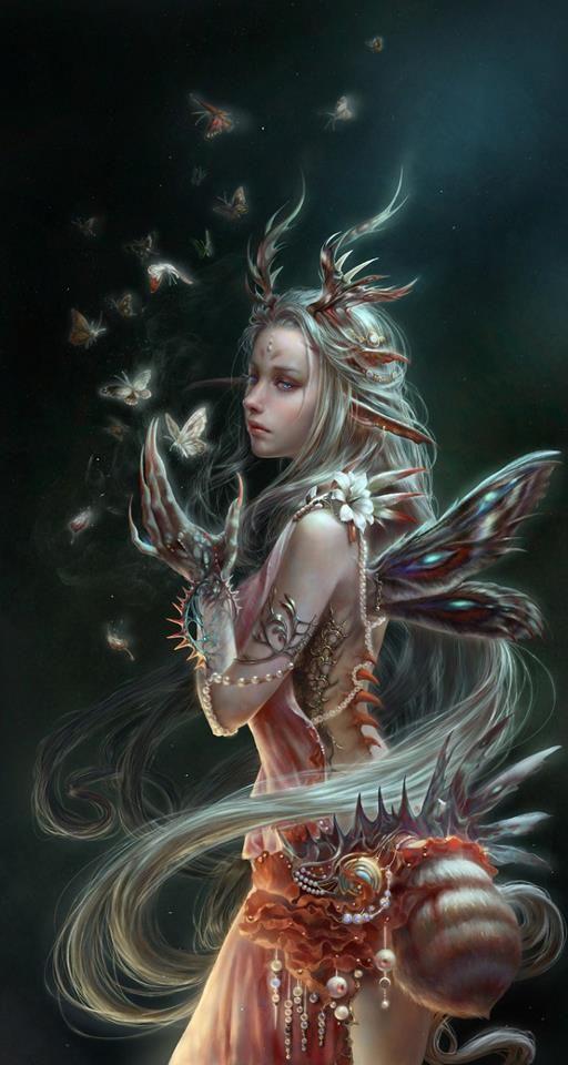 Fairy, fantasy art, wings, dream, drømmeagtig, inspirational, drawing