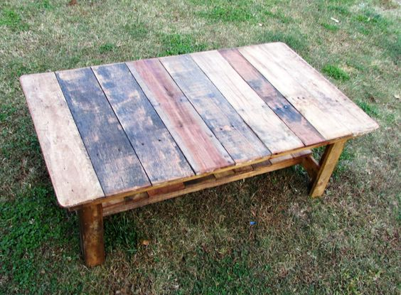 Rustic Coffee Table Reclaimed Wood Recycled by SereneVillage, $145.00