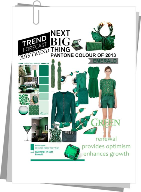 """""""Trend 2013 - Emerald"""" by monkmilly ❤ liked on Polyvore"""