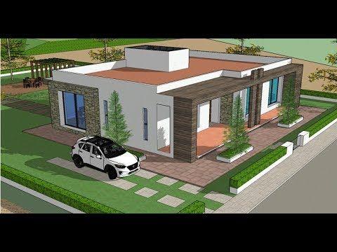 Planos De Casas Un Piso Con 3 Recamaras Proyecto Arquitectura Moderna Planos De Casas Casas De Un Piso Fachada De Casas Bonitas