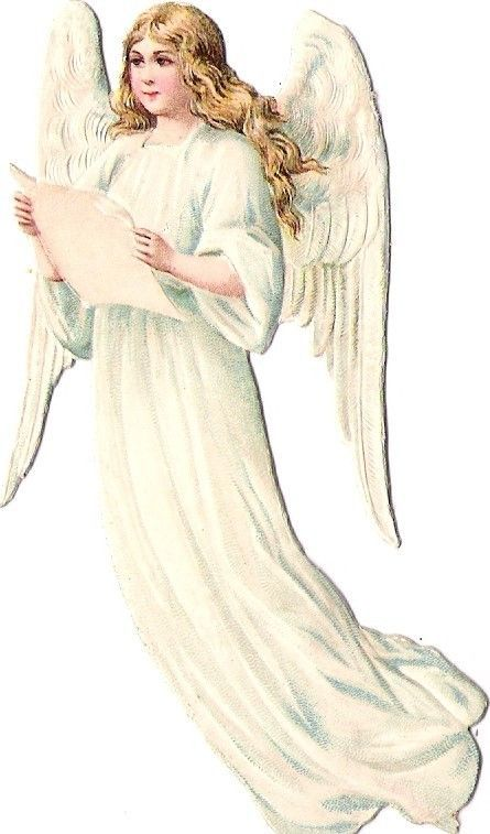 Oblaten Glanzbild scrap die cut chromo Engel angel cherub 10,5cm ange: