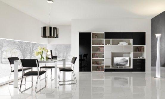 Moderne Schwarze und Weiße Möbel für das Wohnzimmer von ...