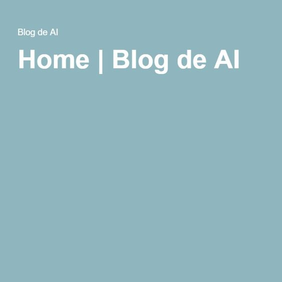 Home | Blog de AI