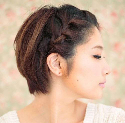 20 Ways To Style Your Short Hair Differently Her World Singapore In 2020 Braids For Short Hair Short Hair Styles Cool Braid Hairstyles
