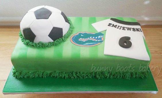 Gators Soccer Cake - Bunny Boots Bakery - Oviedo, Fl