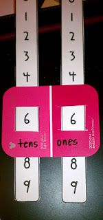 Love this idea for place value practice.  I would use the longer paint chips, and go to the thousands place.
