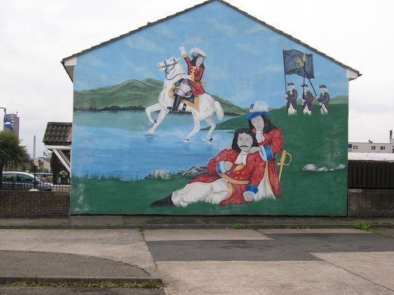 william of orange mural belfast