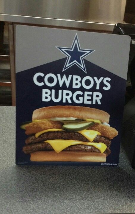 All Cowboys fans go to Jack in the box and order up