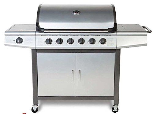 Cosmogrill 6 1 Gas Grill Bbq Barbecue W Side Burner Plentiful Storage Silver 199 99 Gas Bbq Gas Grill Grilling
