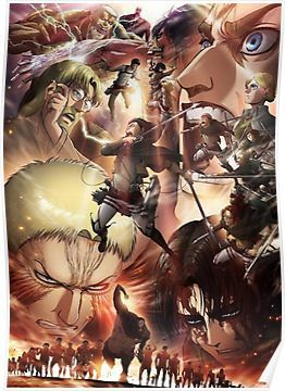 Shingeki No Kyojin Season 3 Poster By Goosehouse Attack On