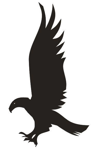 Ravenclaw house eagle stencil logo. Harry Potter stencils.