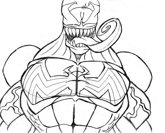 venom coloring pages Coloring Pages Pinterest