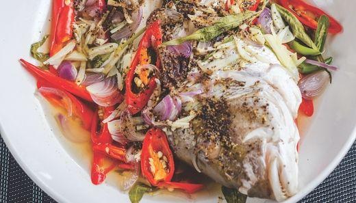 Bagaimana Cara Nak Masak Ikan Kukus Daun Kesum Recipes Food Thai