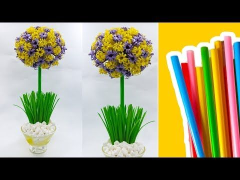 Cara Membuat Bunga Pom Pom Dari Sedotan How To Make Round Straw
