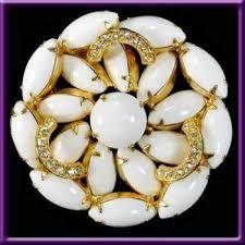 antique milk glass jewelry - Google Search
