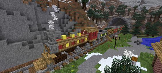 /r/minecraft: Winter train