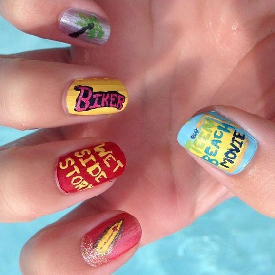 Teenage Nail Art: Teen Beach Movie The Most Cuttest Nails I Got Mine That