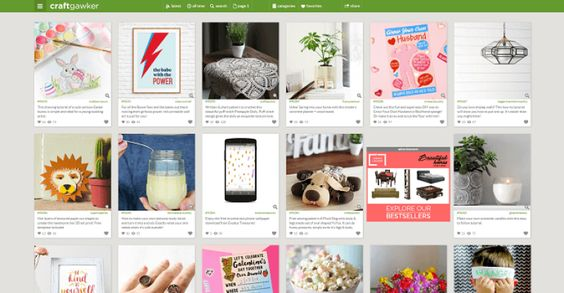 craftgawker pinterest like sites