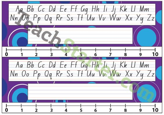 Lower Grade Desk Plate - Abstract Spots - Purple | Teach Starter - Teaching Resources