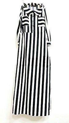 striped abaya maxi dress muslimah dress long sleeve dress