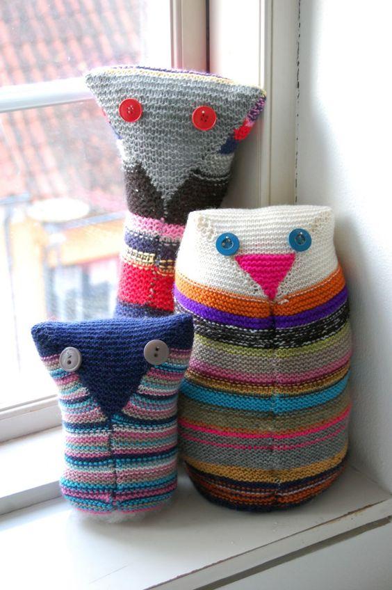 Hand-knitted Owls #owls #owl #handmade #knit