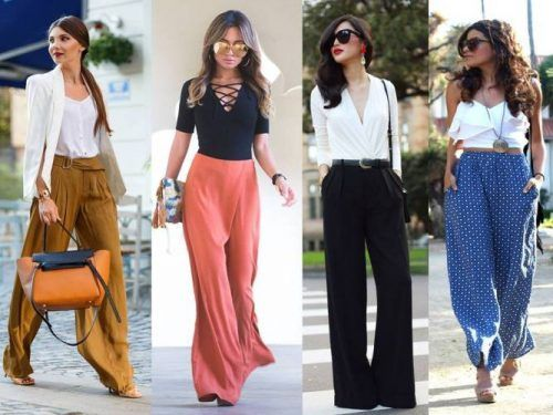 Image result for Wear Crop Tops And Palazzo Pants To Acquire A Trendy Look