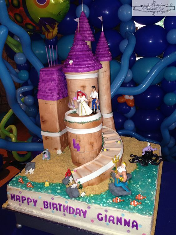 little mermaid and prince eric wedding cake topper the mermaid prince eric s castle cake https www 16909