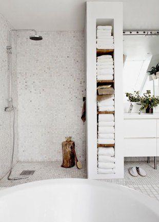 douche à l'italienne classique