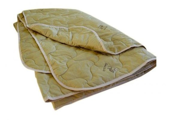 Comforter quilted all-season filler: camel wool, size 200/220 cm